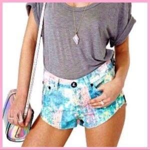 "ONE TEASPOON | ""Bonita"" Paint Splatter Shorts"